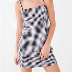 Cooperative Black and White Gingham Mini Dress